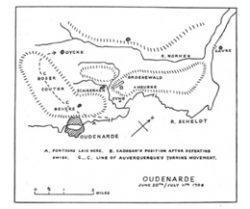 The Battle of Oudenarde, 1708