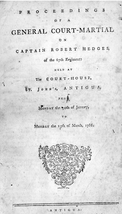 The Court Martial of Captain Robert Hedges