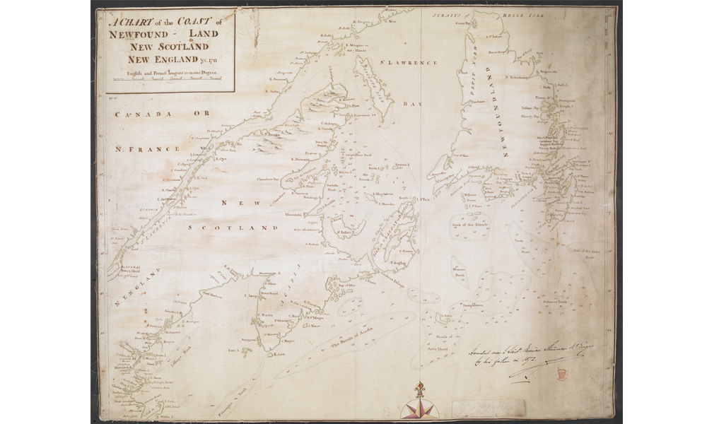 To Quebec, wrecked in the St Lawrence 1711