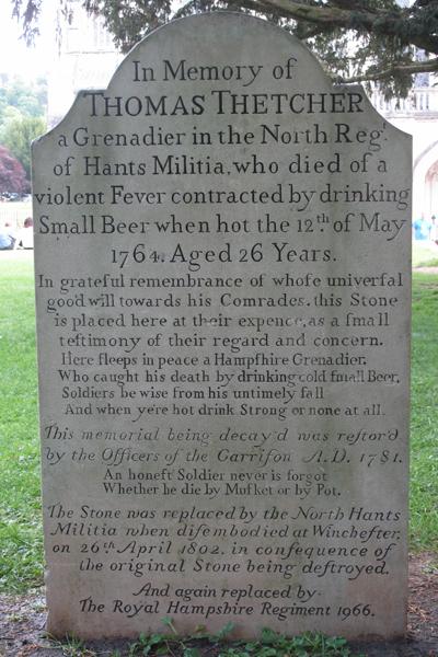 Death of Thomas Thetcher, 1764